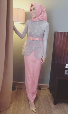 Baju muslim brokat model kebaya 1