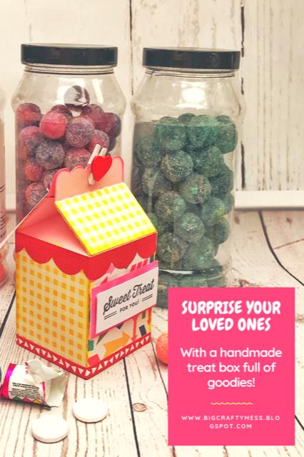 Sweet Treats- A paper milk carton filled with goodies! Rachel Gillham Art