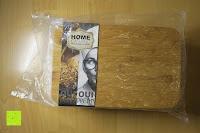 Plastiktüte: Brotkasten aus Metall mit Deckel aus Bambus | 32 x 20 x 12 cm | Bewahren Sie Ihr Brot luftdicht und hygienisch auf