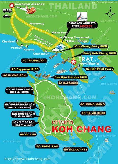 Karte Koh Chang