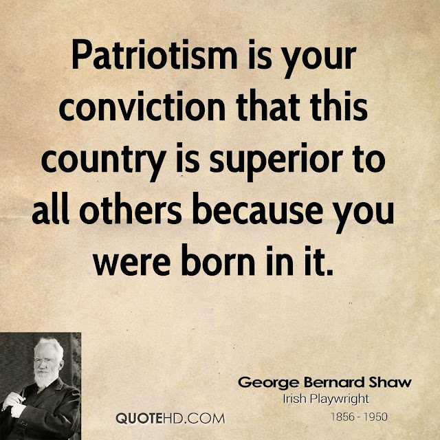 George Bernard Shaw AGAINST  patriotism