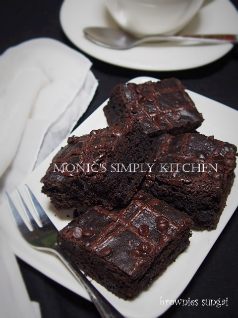 resep triple choco brownies sungai