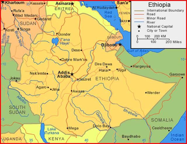Gambar Peta Ethiopia