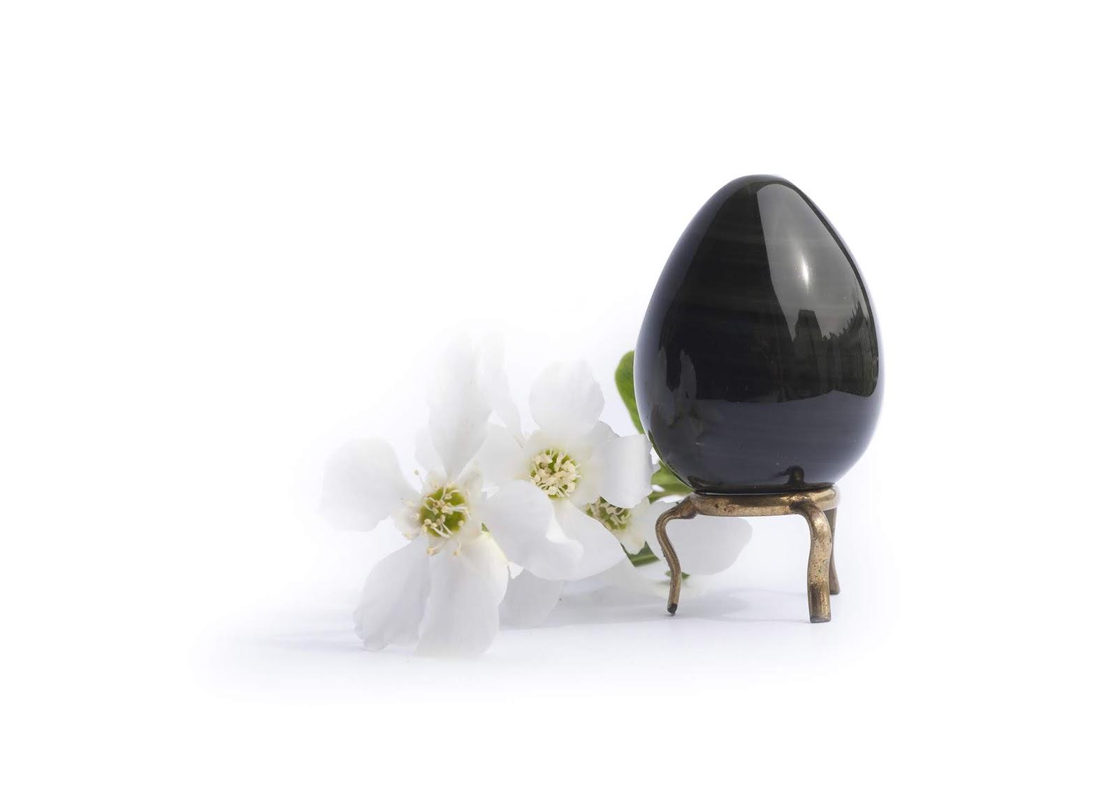 oeuf de yoni en obsidienne