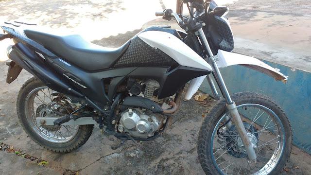 Motocicleta roubada é recuperada pelo SI do 2° BPM