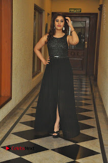 Actress Surabhi Stills in Black Long Dress at turodu Audio Launch  0074.JPG