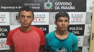 Policiais do 9º BPM prendem acusados de praticarem delitos em Nova Palmeira