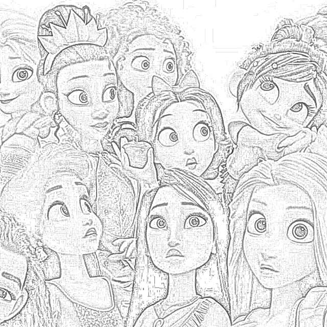 Coloring Pages Ralph Breaks the Inter Coloring Pages
