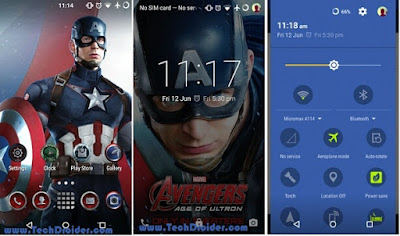 Caption America Cm12 Theme
