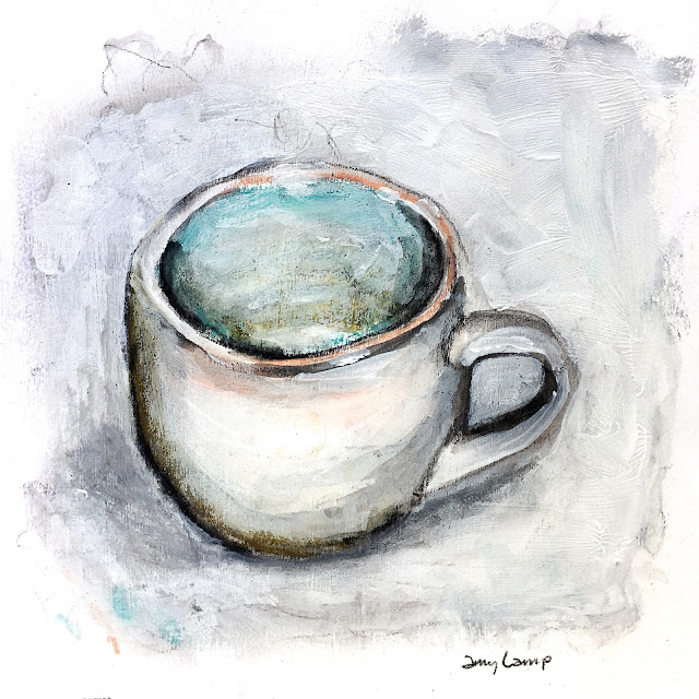 daily art - mixed media mug study