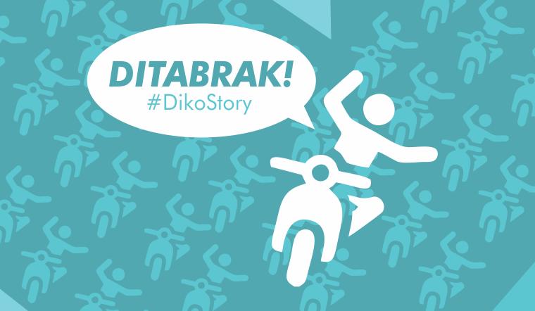 #DikoStory - BRUK! Hari ini Ditabrak Motor Ngebut