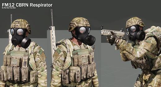 Arma3用AVON FM12 ガスマスクアドオン
