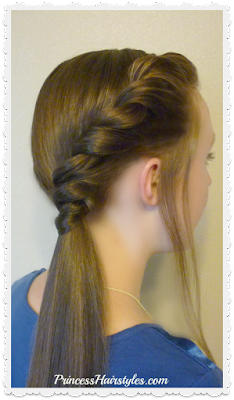 Side twist ponytail hairstyle tutorial. #backtoschoolhair