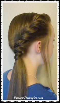 Side twist ponytail hairstyle tutorial. #backtoschoolhair