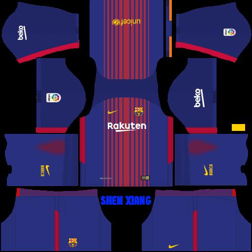 (Update!!!!) FC Barcelona 2017/18 kit DLS/FTS