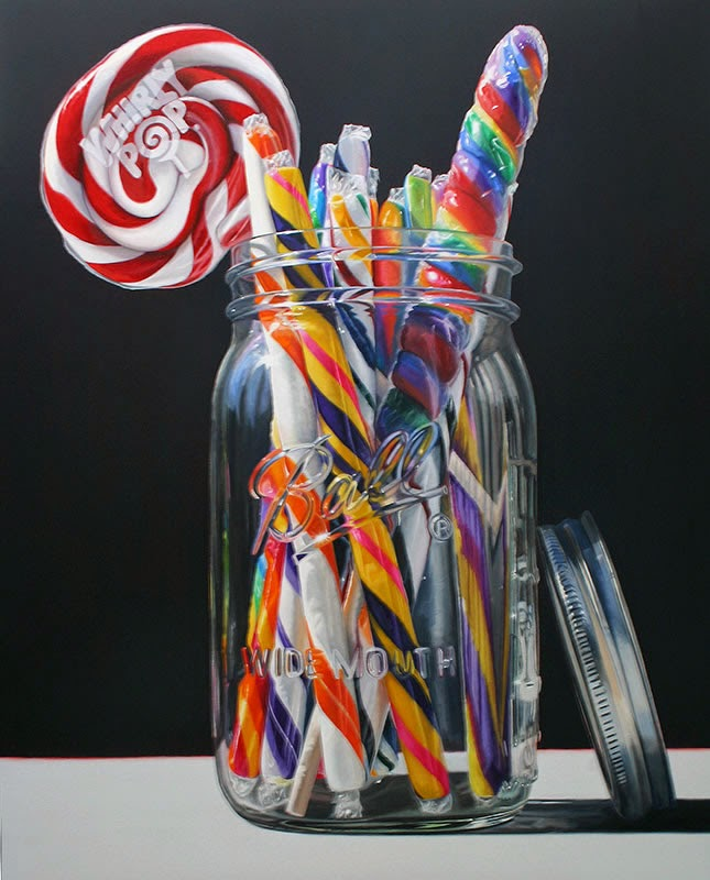 09-Lollipalooza-Daryl-Gortner-Reflections-in-Art-Photo-Realistic-Paintings-www-designstack-co