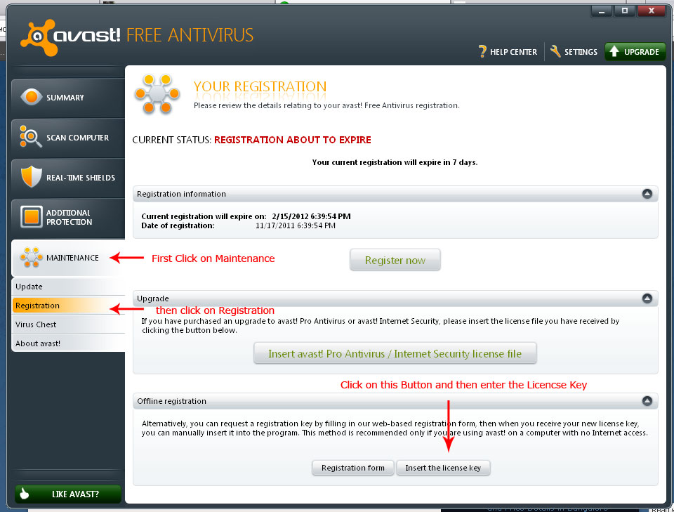Download Avast! Free Antivirus 6.0 With Working License ...