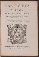 """A title page for """"L'antichita di Roma."""""""