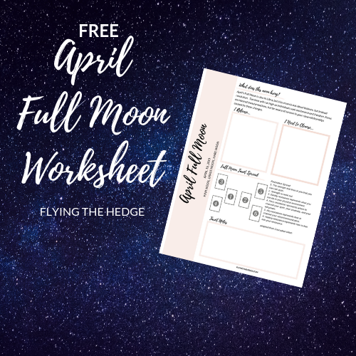 April Full Moon Worksheet