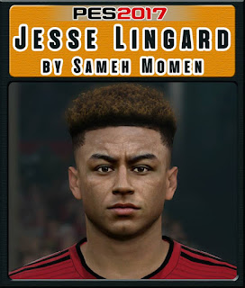 PES 2017 Faces Jesse Lingard by Sameh Momen
