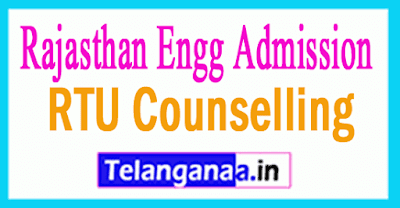 RTU Counselling Rajasthan Engg Admission Counselling