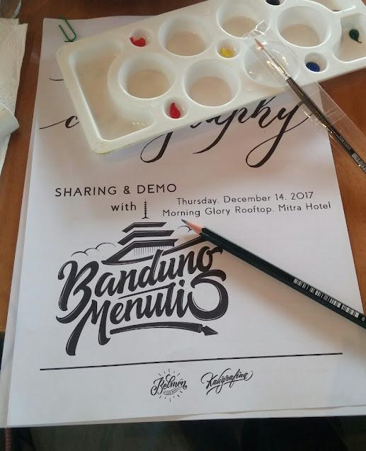 belajar hand lettering