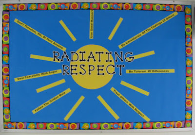photo of respect bulletin board