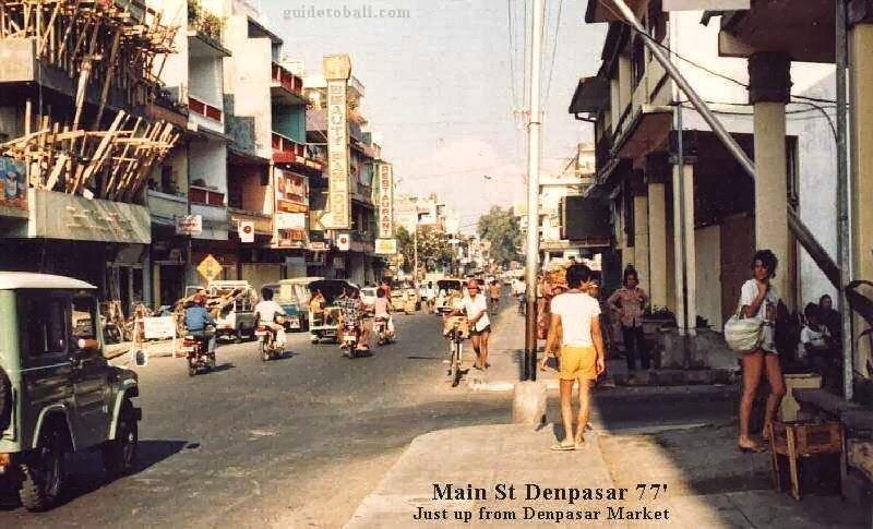 Foto Kuno Jalan Gajah Mada Denpasar Tahun