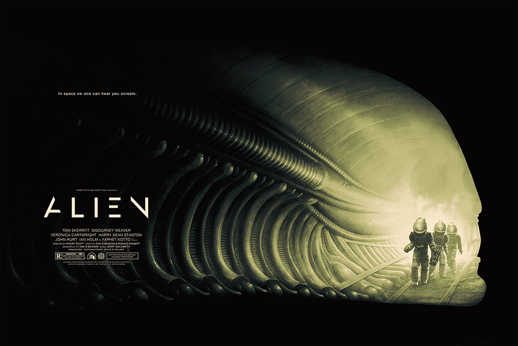 934e9d99 The Blot Says...: ALIEN Movie Poster Screen Print by Phantom City ...