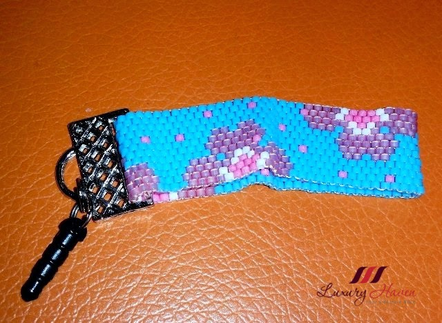 diy beaded handphone strap handicrafts