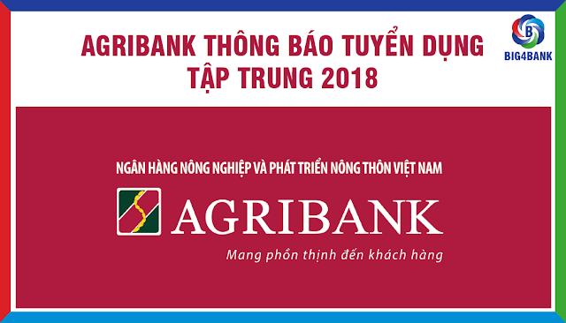 Agribank Tuyển Dụng Tập Trung Năm 2018 tại HN và HCM