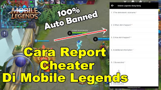 Cara Report Player Cheater Di Game Mobile Legends