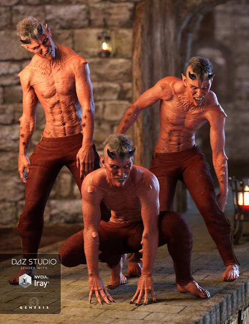 DAZ 3D - Night Creatures Poses and Expressions Set for Genesis 3 Male