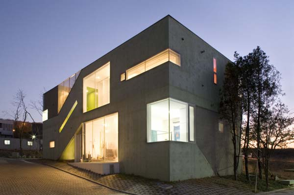 New home designs latest south korea modern homes designs for Modern korean house architecture