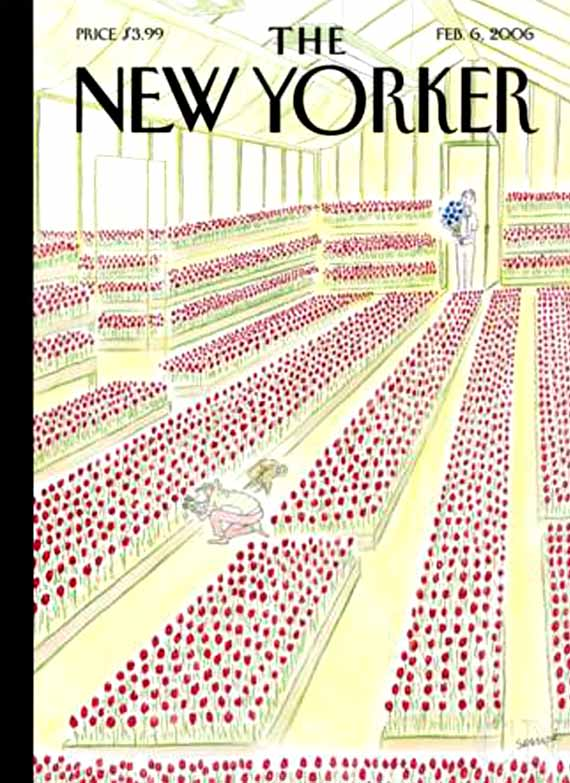 valentine's day, magazine covers, the new yorker, jean jacques sempe illustrator
