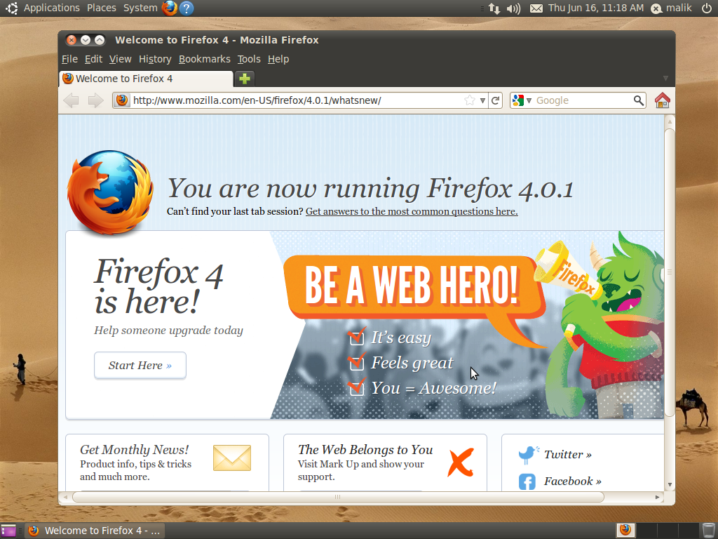 Firefox 4 Stable, Firefox 5 Beta and Firefox Nightly Builds (Lucid