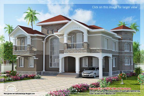 2 storey Indian home design