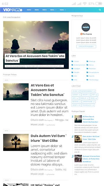 Download gratis template viomagz blogger