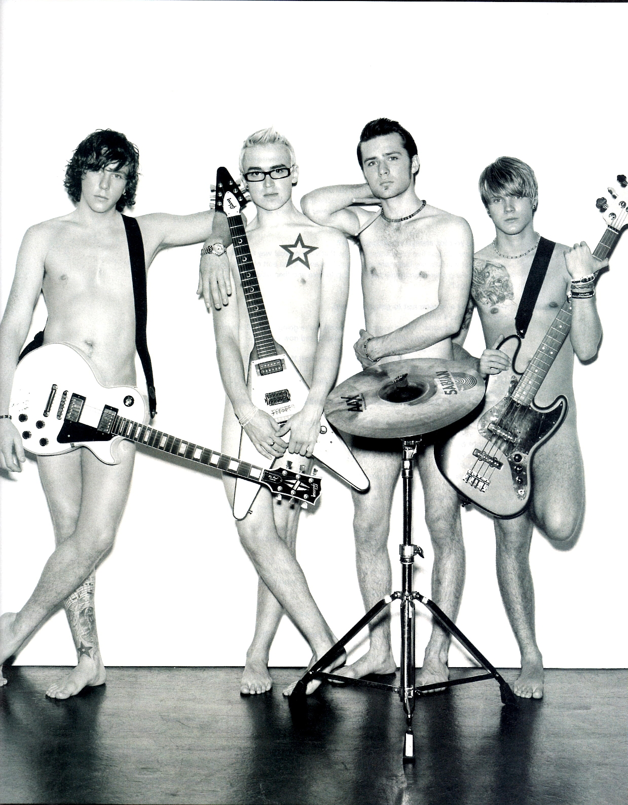 The Stars Come Out To Play: Mcfly - Shirtless Photoshoot