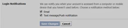 Login Notifications