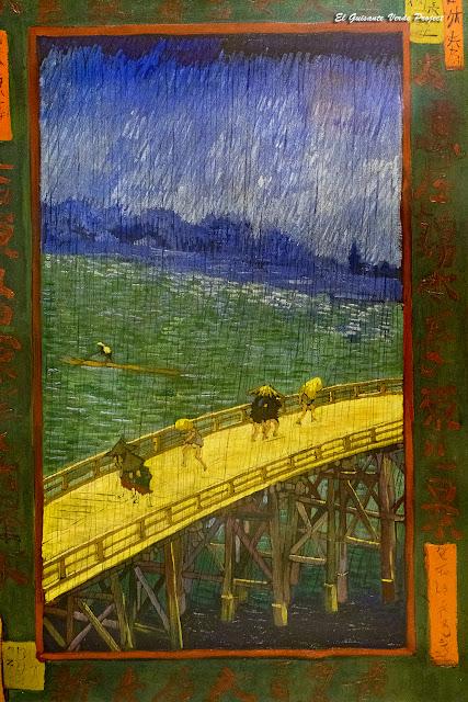 Van Gogh, Puente bajo la lluvia - Van Gogh Museum, Amsterdam, por El Guisante Verde Project