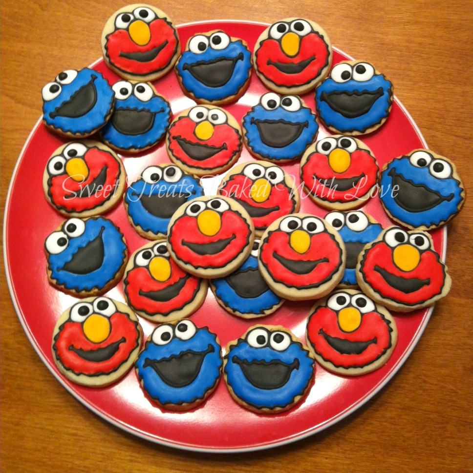 Sweet Treats Baked With Love Elmo And Cookie Monster Cookies