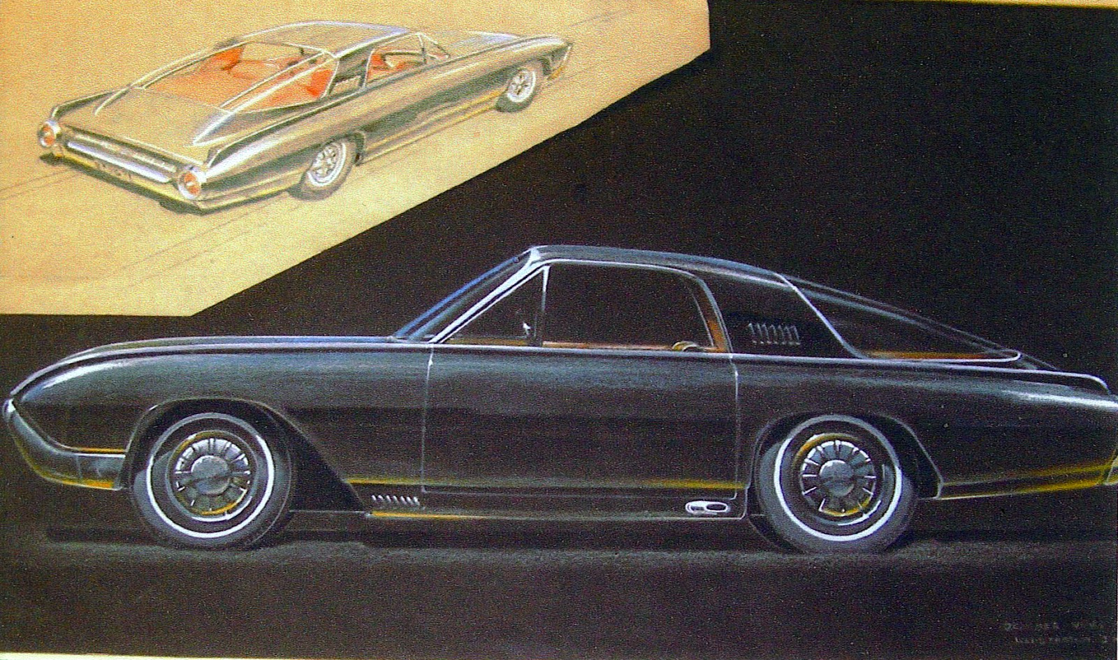 Just A Car Guy The Italien Fastback 62 3 T Bird Concept 1963 Chevy Impala 4 Door Sedan 283 Dash Wiring Harness W Fuse Was Featured In Fords 1962 63 Custom Caravan And 1964 New York Worlds Fairs Cavalcade Of Cars Then Appeared Autoramas