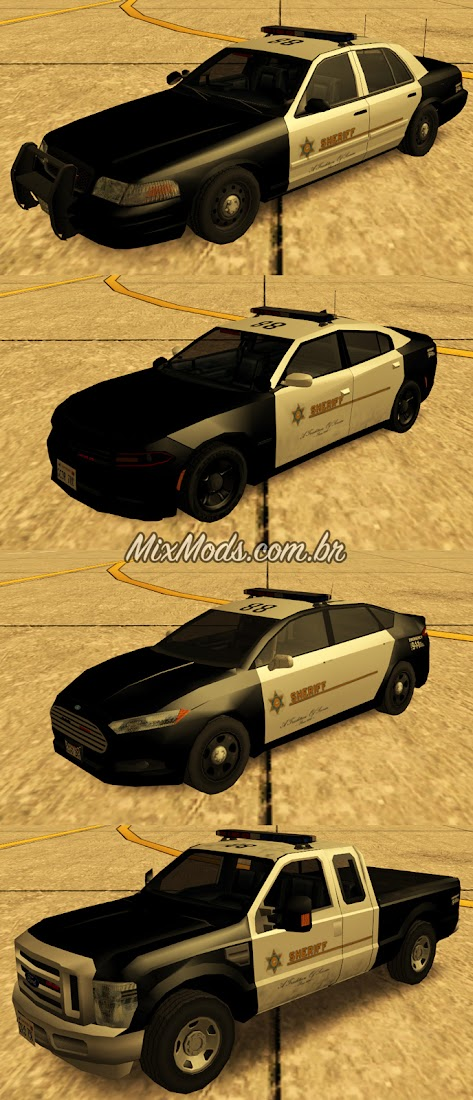 gta sa san cop car pack sasd police imvehft ivf lowpoly sa style
