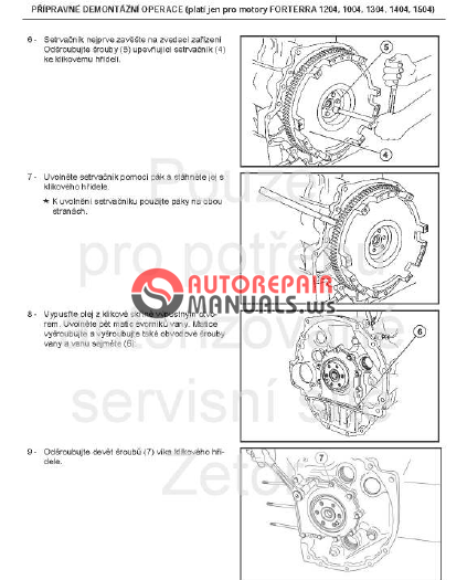 Free Auto Repair Manual : Zetor Engine Tractor Forterra