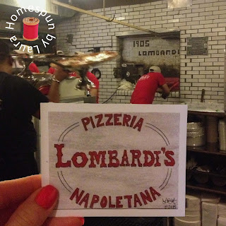 watercolor painting of Lombardi's Pizza in Little Italy in NYC