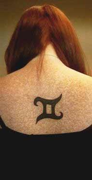 Best gemini tattoos designs on back for women