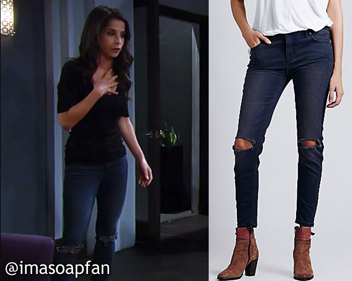 Sam Morgan's Destroyed Ankle Skinny Jeans - General Hospital, Season 54, Episode 09/30/16