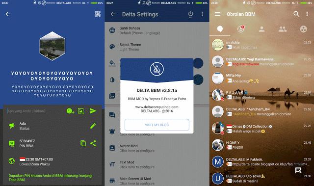 Download DELTA BBM v3.8.1a BBM v3.1.0.13 Versi Terbaru