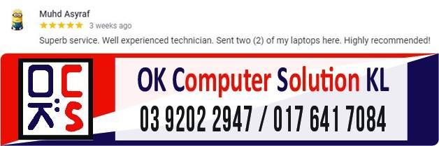 LOKASI OK COMPUTER SOLUTION KUALA LUMPUR | KEDAI REPAIR LAPTOP CHERAS 20